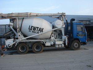 Transport betonu - betoniarka