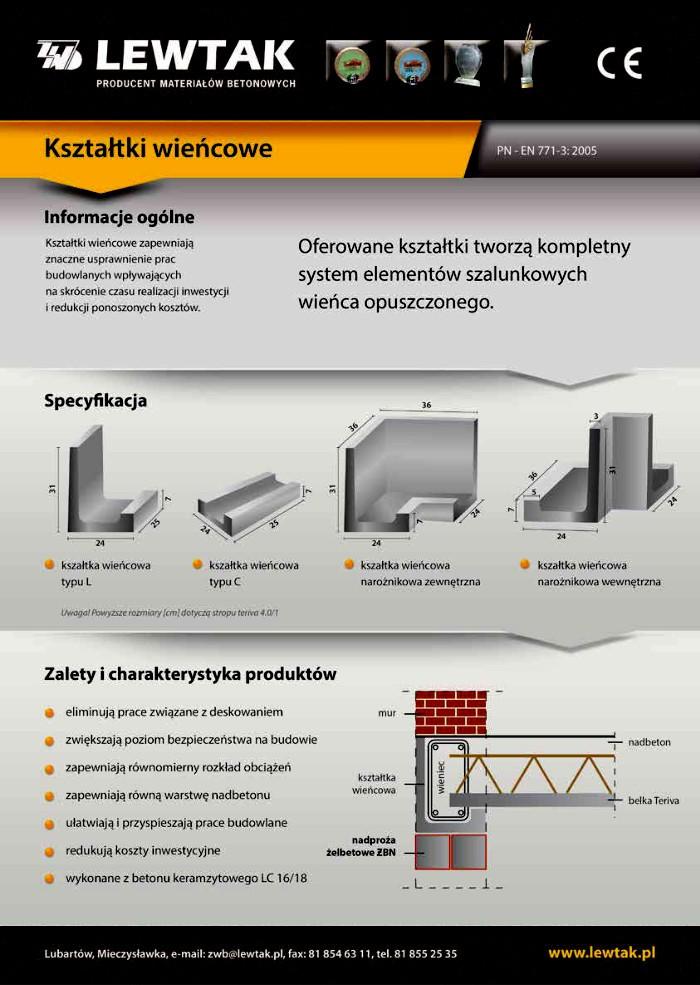Kształtki wieńcowe Lublin - kształtka u - Lewtak producent kształtek