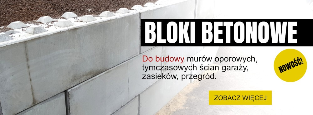 Bloki betonowe klocki - producent betonu